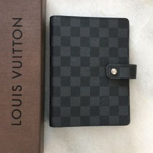 Louis Vuitton Medium Ring Agenda Damier Graphite